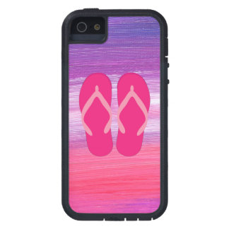 Rosa flinflip flops iPhone 5 Case-Mate skal