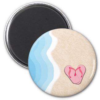 Rosa flinflip flops på strandmagneten magnet