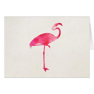 Rosa Florida för FlamingovattenfärgSilhouette OBS Kort