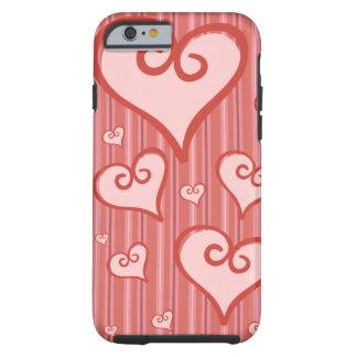 Rosa fodral för iphone 6 för hjärtaiPhone 6Case Tough iPhone 6 Fodral