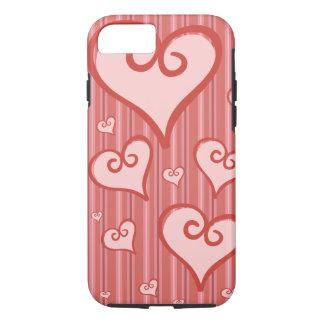 Rosa fodral för iPhone 7 för hjärtaiPhone 7Case