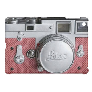 Rosa fodral för kortkort för vintagekameraiPad iPad Mini Mobil Skydd