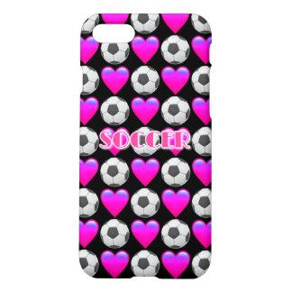 Rosa fodral för Matte för fotbollEmoji iPhone 7