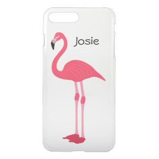 Rosa fodral för plus för iPhone 7 för namn för