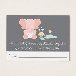 Rosa för elefant för fågelblöja lite biljetter för