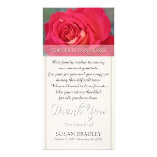 Rosa för evigt i vårt hjärtasympatitack fotokort