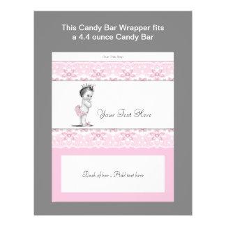Rosa för godispub för Princess baby shower omslag Custom Flyer