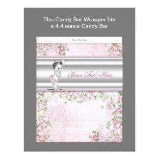 Rosa för godispub för Princess baby shower omslag Reklamblad 21,5 X 30 Cm