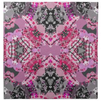 Rosa för grå färg abstrakt flickaktigt tygservett