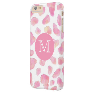ROSA för LeopardMonogram för SAFARI | rosa fodral Barely There iPhone 6 Plus Skal