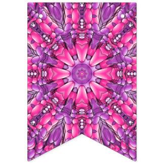 Rosa för vintageKaleidoscope för n purpurfärgad Vimplar