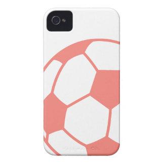 Rosa fotbollboll för korall iPhone 4 case