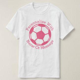 Rosa fotbollboll för PERSONLIG Tee Shirts