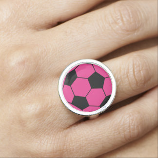Rosa fotbollbollring fotoring