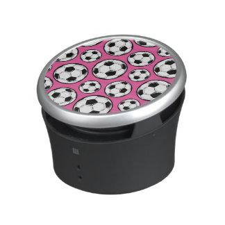 Rosa fotbollflickamönster högtalare