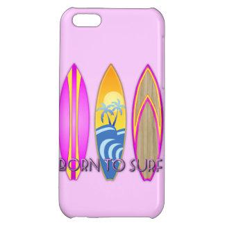 Rosa fött som surfar iPhone 5C mobil skal