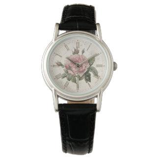 Rosa fransk antik klocka för vintage