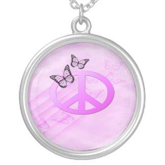 Rosa fred silverpläterat halsband