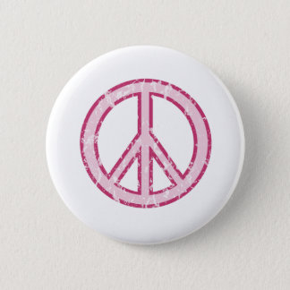 Rosa fredsymbol standard knapp rund 5.7 cm