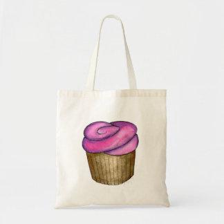 Rosa frostad toto för muffinmuffinsFoodie Tygkasse