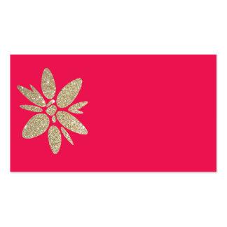 Rosa fuchiaOSA för visitkort med guld- blommor