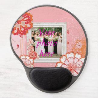 Rosa Gel Mousepads för foto för blommavitram