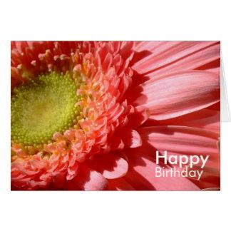 Rosa Gerbera - grattis på födelsedagen Hälsningskort