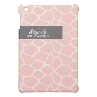 Rosa giraff Pern för baby iPad Mini Skal