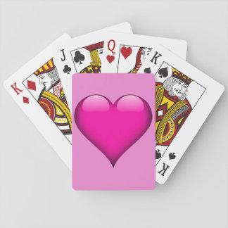 Rosa Glass hjärtaanpassade Spel Kort