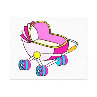 Rosa grafisk temabarnvagn canvastryck