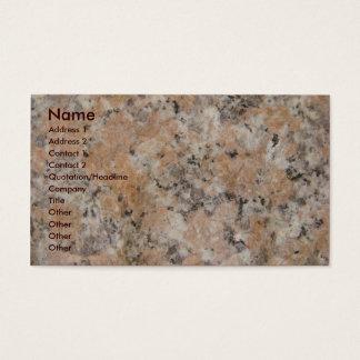 Rosa granit visitkort