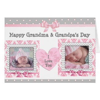 """Rosa- & gråttmorförälder dag """"älskar jag dig"""" hälsningskort"""