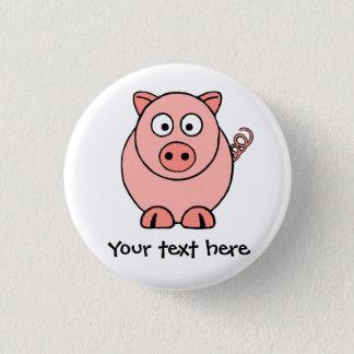 Rosa gris mini knapp rund 3.2 cm