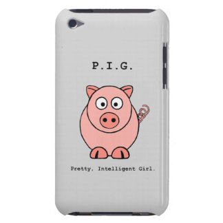 Rosa grishumor iPod touch överdrag