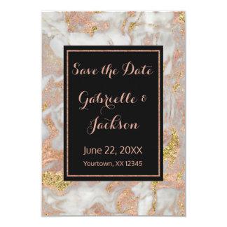 Rosa guld- marmorspara för modern Faux 8,9 X 12,7 Cm Inbjudningskort