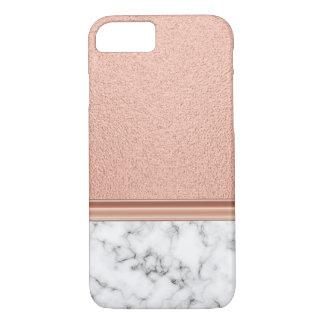 Rosa guld omkullkastar på marmor