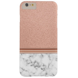 Rosa guld omkullkastar på marmor barely there iPhone 6 plus skal