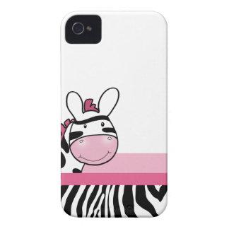 Rosa gulligt fodral för sebrabjörnbärtelefon Case-Mate iPhone 4 skydd