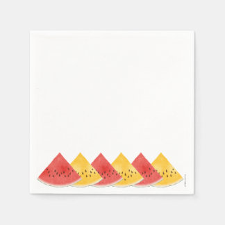 Rosa/gult pappra servetter för vattenmelon