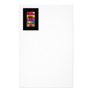 Rosa- & gultmakroblommor brevpapper