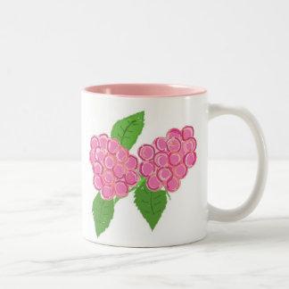Rosa hallon Två-Tonad mugg