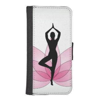 Rosa härlig chi för energi för chakra för iPhone 5 plånböcker