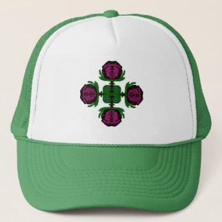 Rosa hatt för abstrakt truckerkeps