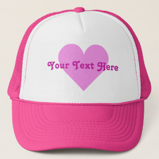 Rosa hattar för hjärtavalentinanpassningsbar keps