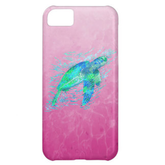 Rosa havssköldpadda iPhone 5C fodral