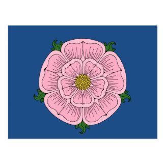 Rosa heraldiskt steg vykort