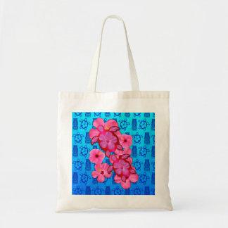 Rosa hibiskus och Honu sköldpaddor Tote Bag