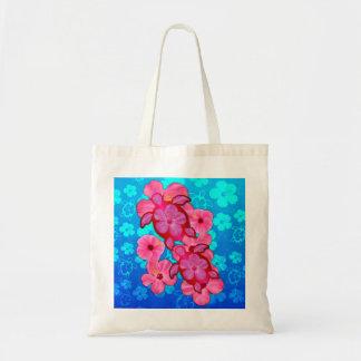 Rosa hibiskus och Honu sköldpaddor Tygkasse