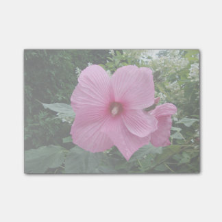Rosa hibiskus post-it block