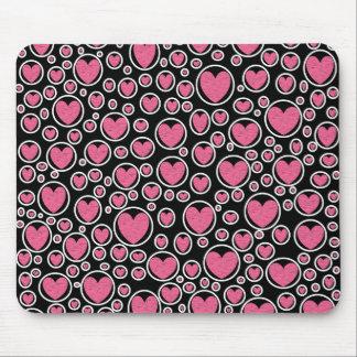 Rosa hjärta bubblar Mousepad Musmatta